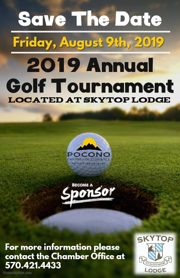 2019 Pocono Chamber Golf Tournament at Skytop Lodge August 9th